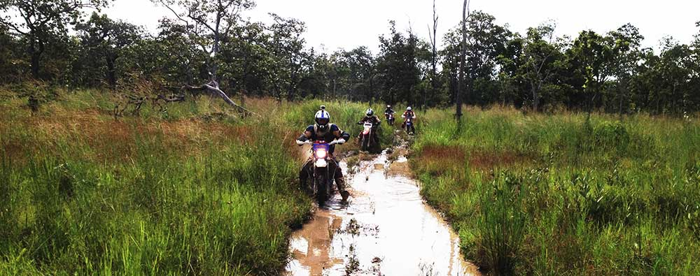 A nice muddy, rutted section on the way to Khao Nhek