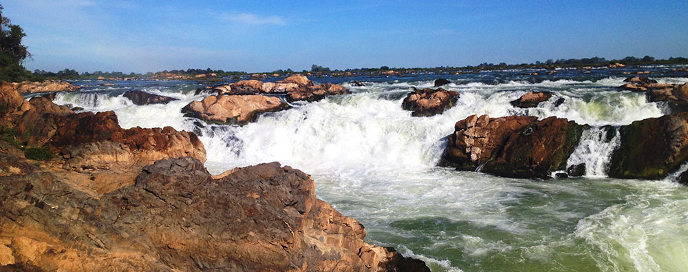 Preah Nimith Rapids on the Mekong River