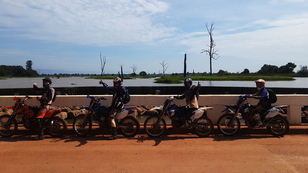 In front of The Flooded Forest in Anlong Veng