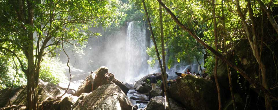 The waterfall at Kulen Mountain